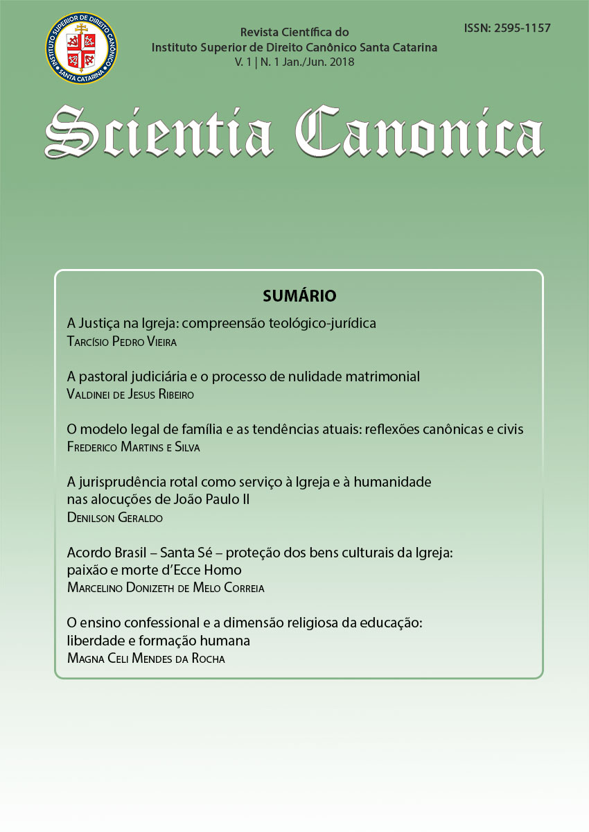 Visualizar v. 1 n. 1 (2018): Scientia Canonica