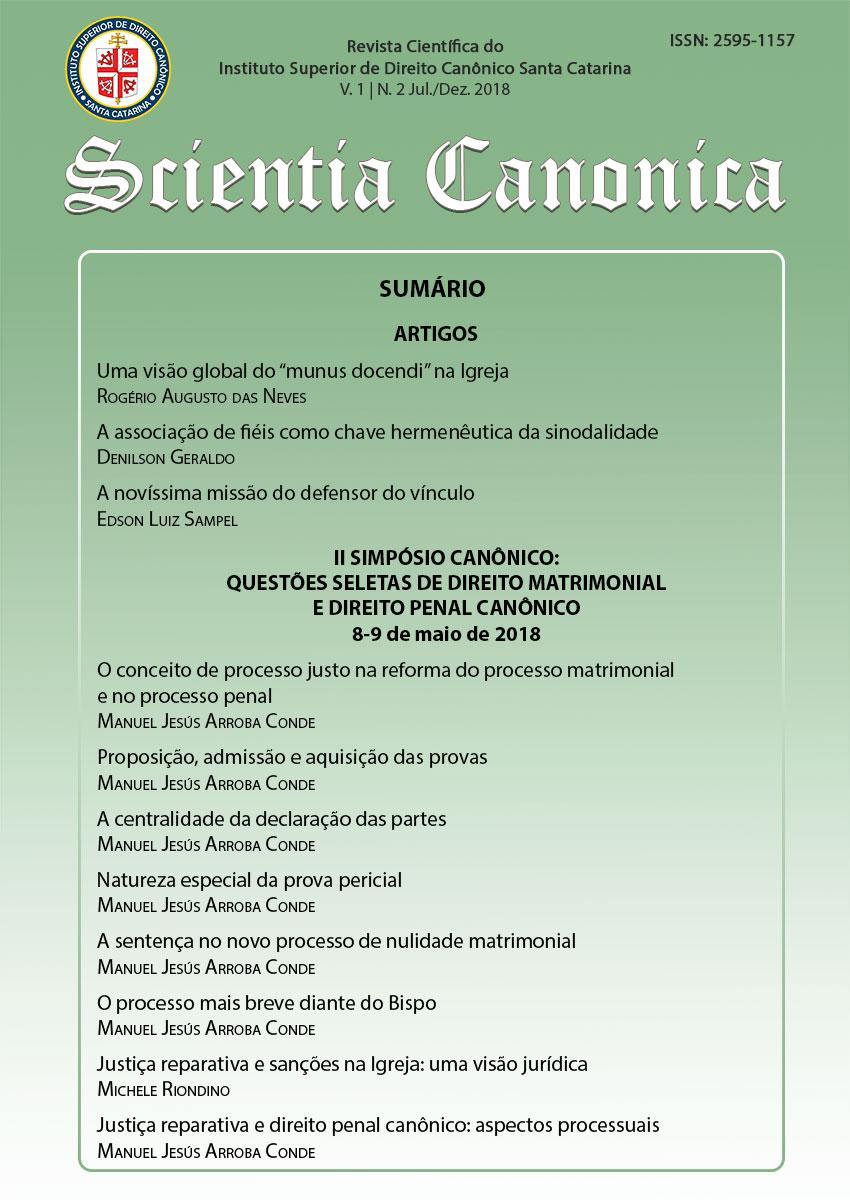Visualizar v. 1 n. 2 (2018): Scientia Canonica