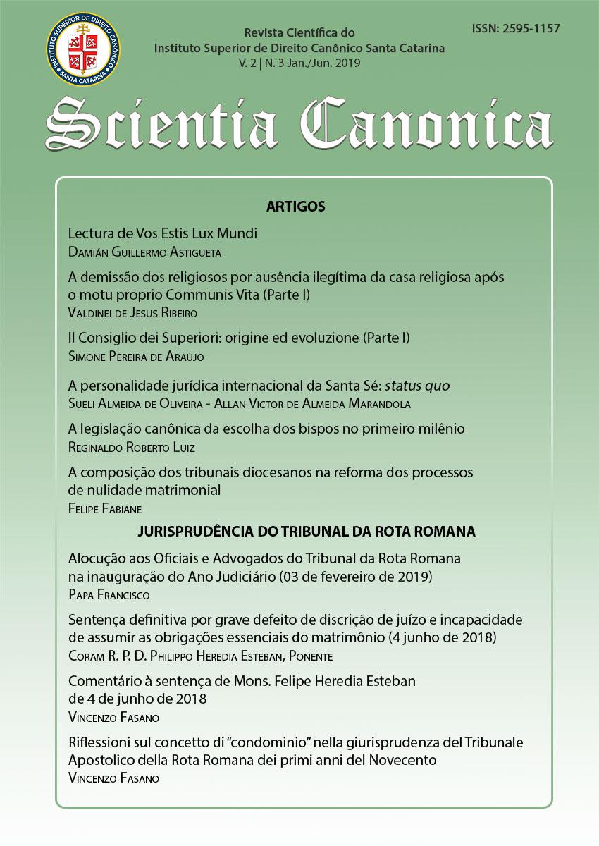 Visualizar v. 2 n. 3 (2019): Scientia Canonica