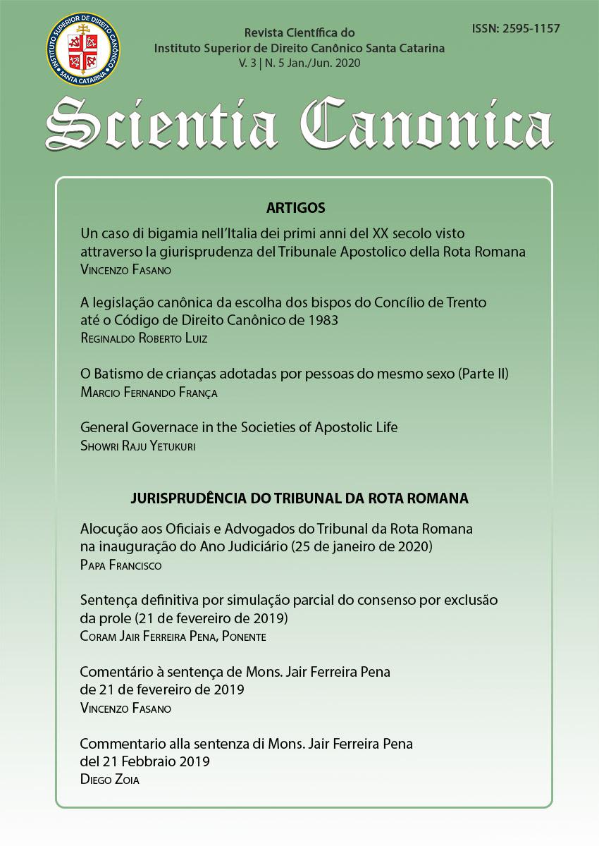 Visualizar v. 3 n. 5 (2020): Scientia Canonica